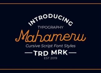 Mahameru Font
