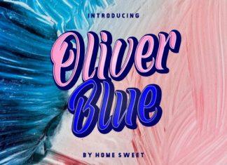 Oliver Blue Font