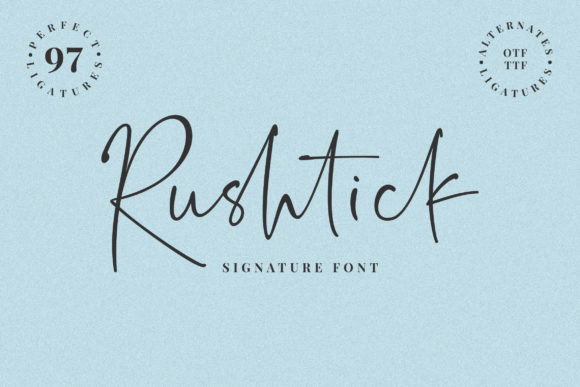 Rushtick Font