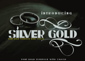 Silver Gold Font