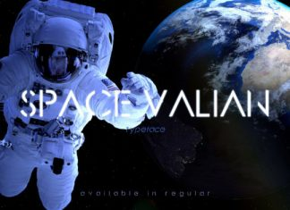 Space Valian font