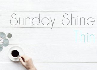 Sunday Shine Thin Font