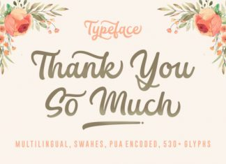 Thank You so Much font