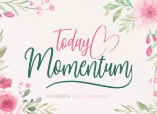 Today Momentum Font