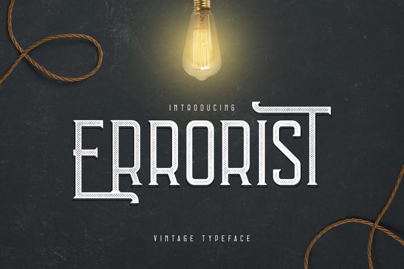 Errorist - Vintage Font
