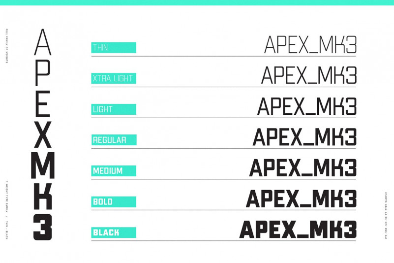 APEX Mk 3 - Geometric Display Type Family