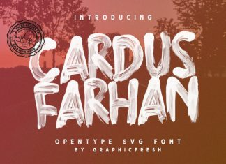 Cardus Brush SVG Font