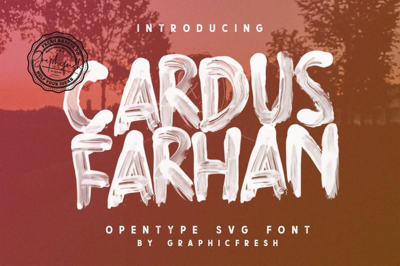 Cardus Brush SVG Font