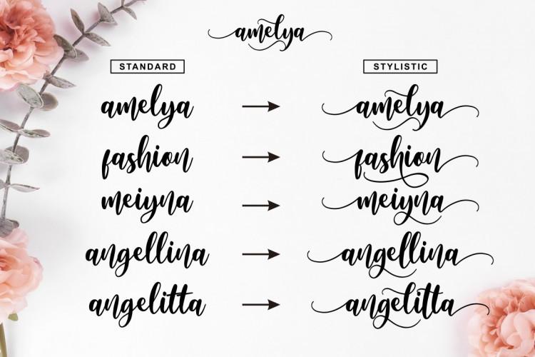 Amelya Script Font