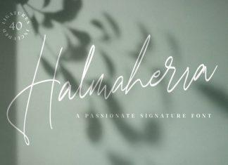 Halmaherra Signature Font
