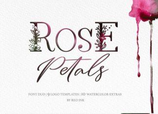 Rose Petals. Font duo + Bonuses