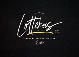 NEW | Lottekas Brush Font