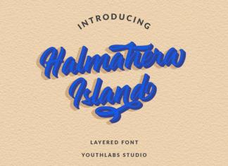 Halmahera Island - Layered Font