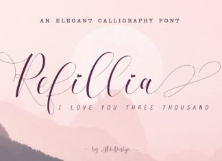 Refillia Calligraphy 'Beauty