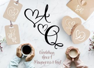 Wedding Heart Monogram Font