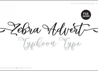Zebra Advert font
