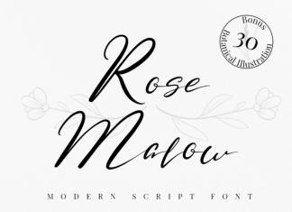 Rose Malow Font