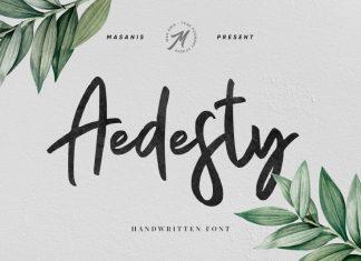 Aedesty // Handwritten Font