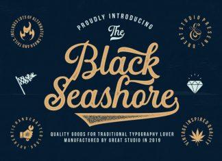 Black Seashore Font