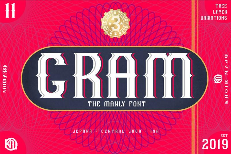 GRAM - New Display Font