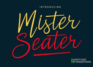 Mister Seater | Script Font