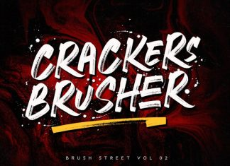 Crackers Brusher - Brush Street Font