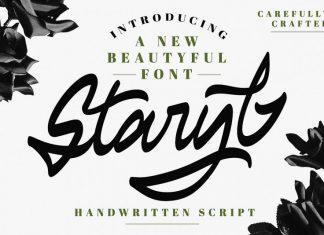 Staryl | Handwritten Script Font