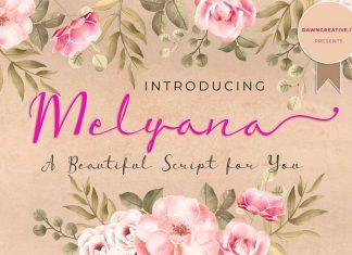 Melyana Script Font