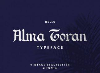 Alma Toran Typeface Font