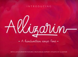 Allizarin Font