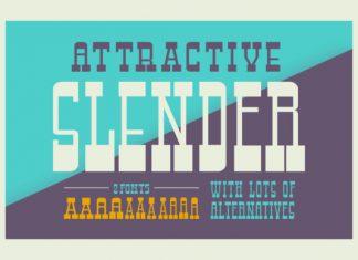 Attractive Slender Font