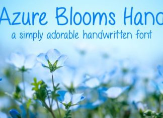 Azure Blooms Hand