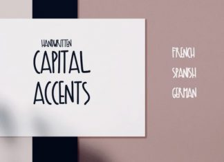 Capital Accents Font