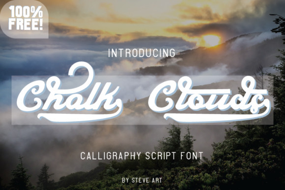 Chalk Clouds Font