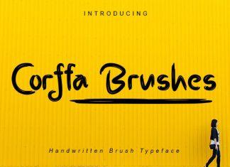 Corffa Brushes Font