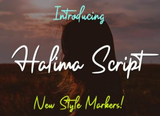 Halima Script Font