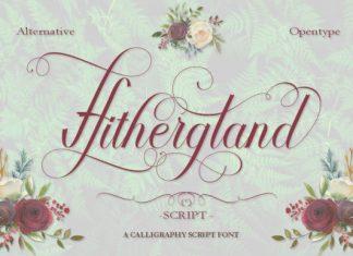 Hithergland Script font