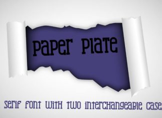 Paper Plate Font