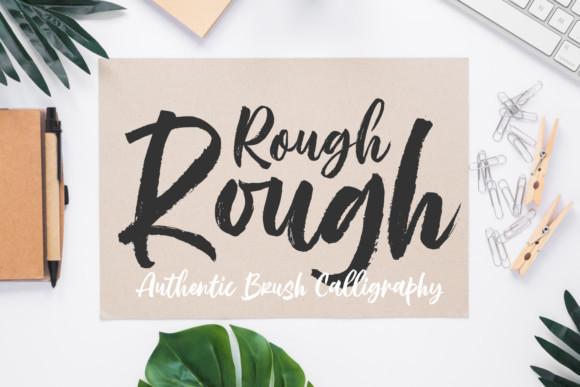 Rough Rough Font