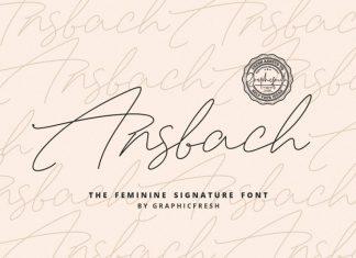 Ansbach | The Feminine Signature Font