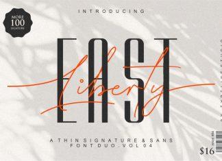East Liberty | Thin Signature & Sans Font