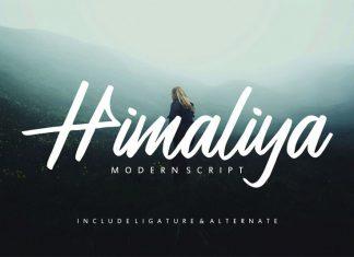 Himaliya | Handwritting Font