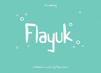 Flayuk Display Font