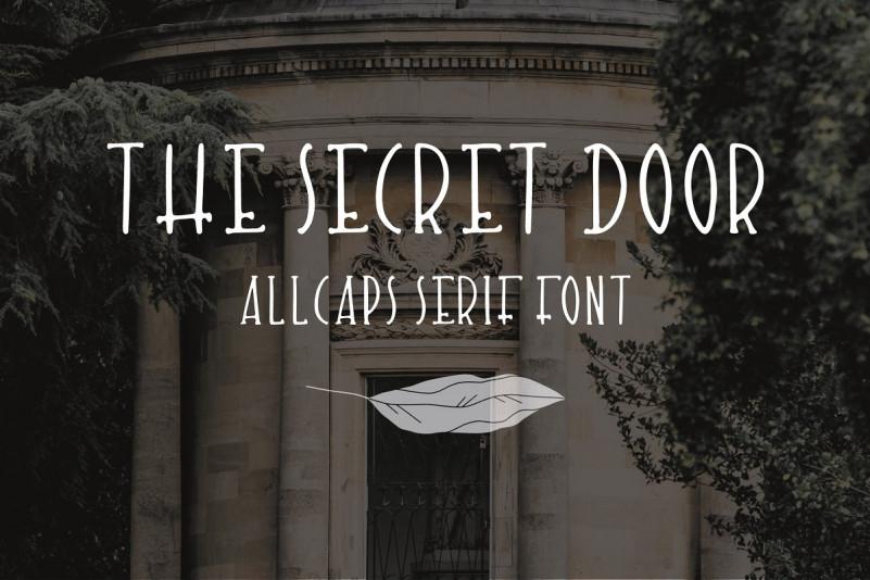The Secret Door. Cute handdrawn font