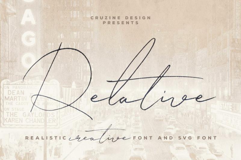 Relative Handwritten Font