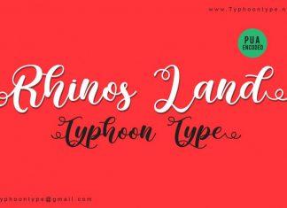 Rhinos Land font