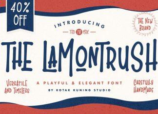 The Lamontrush font