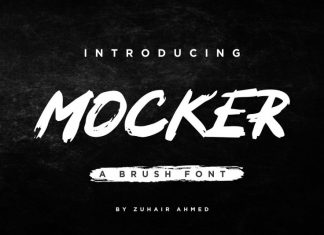 MOCKER - A Brush Font