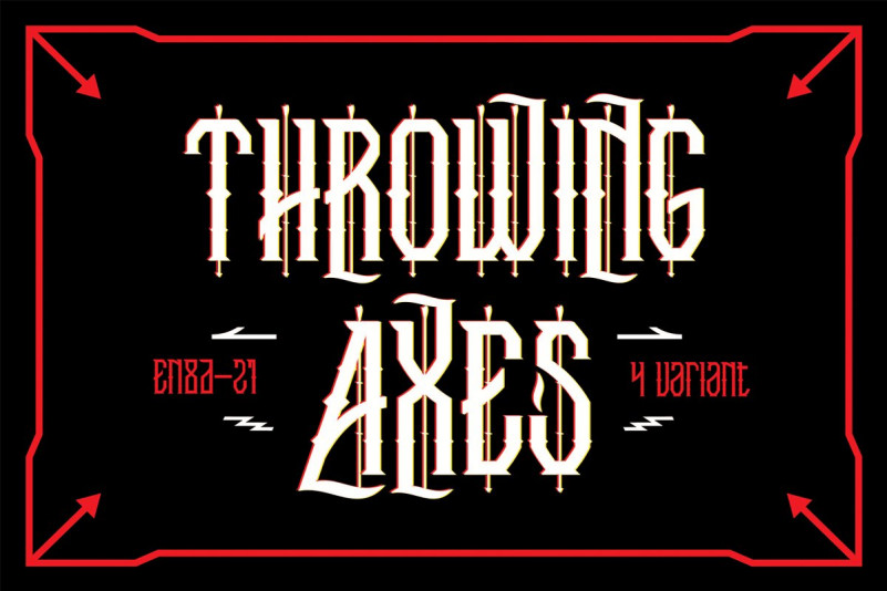 Trowing Axes Font