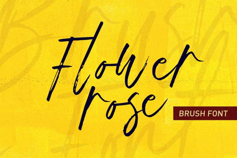 Flower rose font